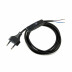 Cable con interruptor, 2 x 0,75mm, clavija EU, 1,5m. negro