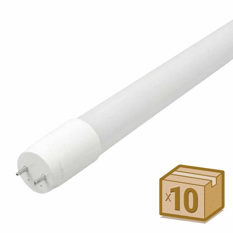 Pack 10 Tubos LED T8 SMD2835 Epistar nano PC - 18W - 120cm, Conexión dos Laterales