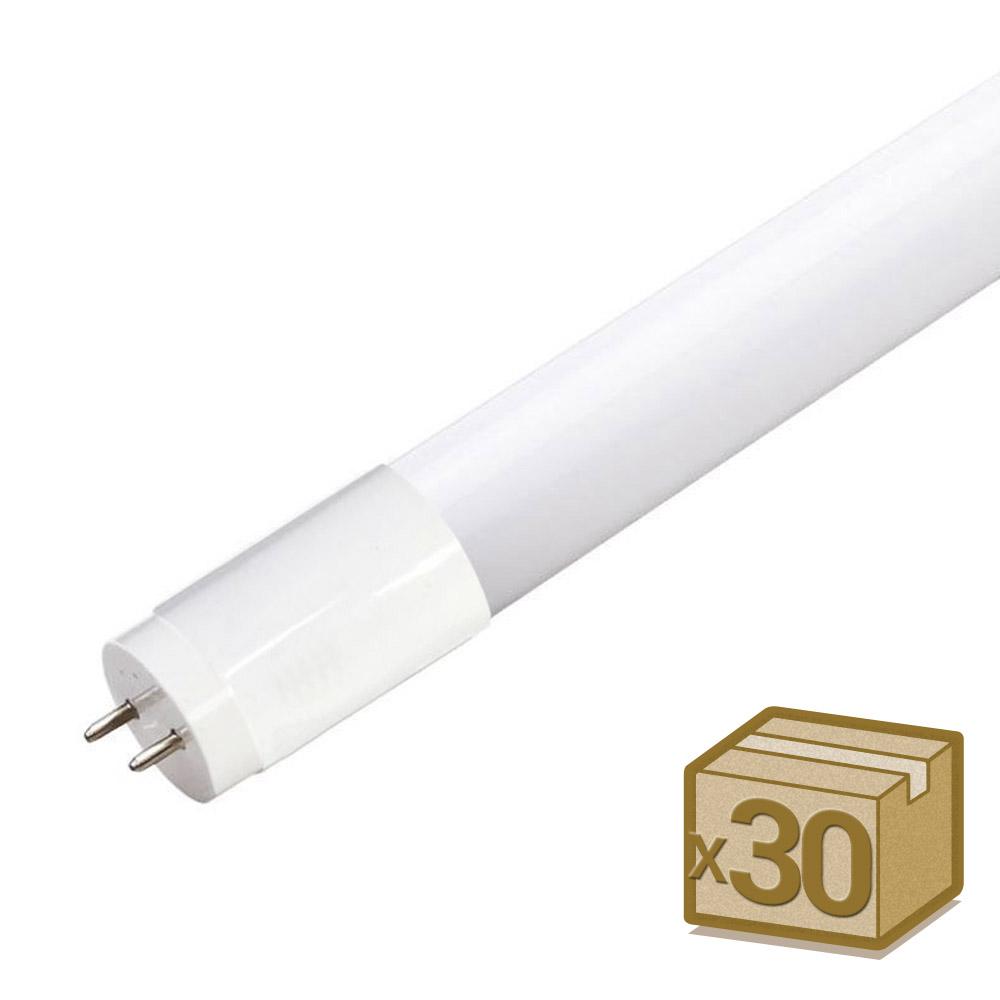 Pack 30 Tubos LED T8 SMD2835 Osram Cristal - 20W - 120cm, Conexión un Lateral
