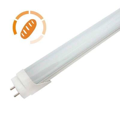 Tubo LED T8, 18W, 120cm, Pan y repostería, Blanco cálido 2700K