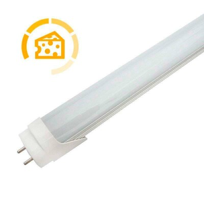 Tubo LED T8, 9W, 60cm, Quesos y fiambres, Blanco cálido