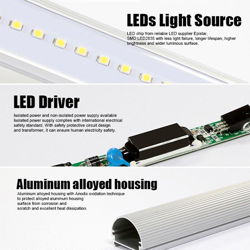 Tube LED T8 SMD2835 - 8W - 60cm, frosted