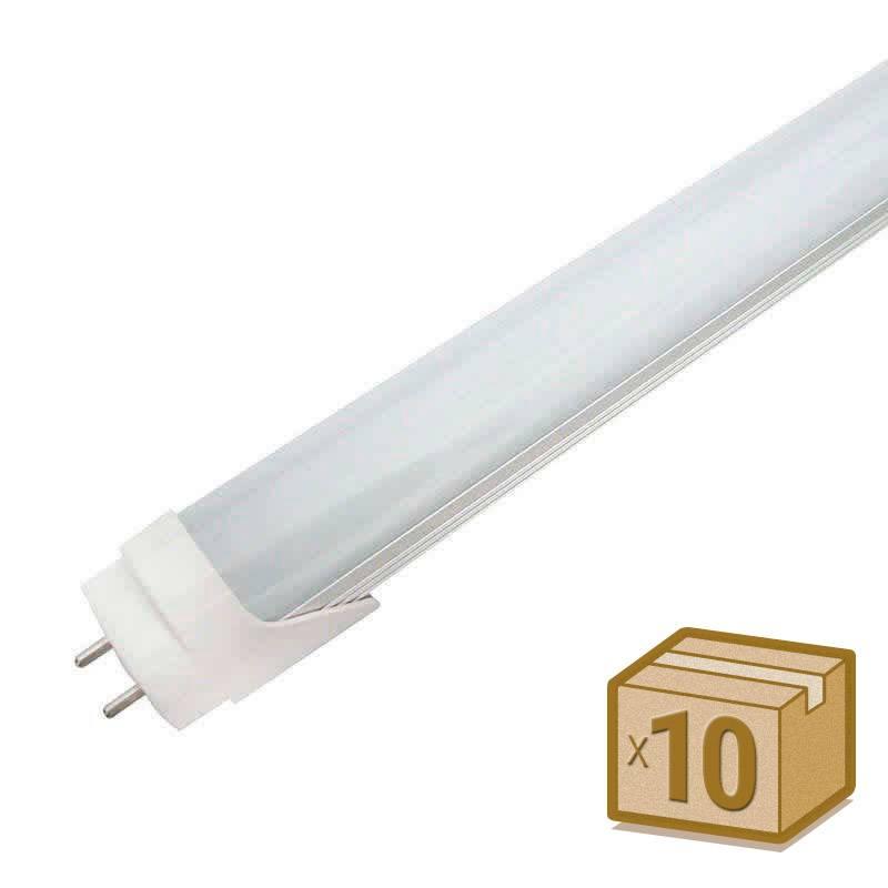 Pack 10 Tubos LED T8 SMD2835 Epistar - Aluminio - 18W - 120cm, Conexão dois laterais