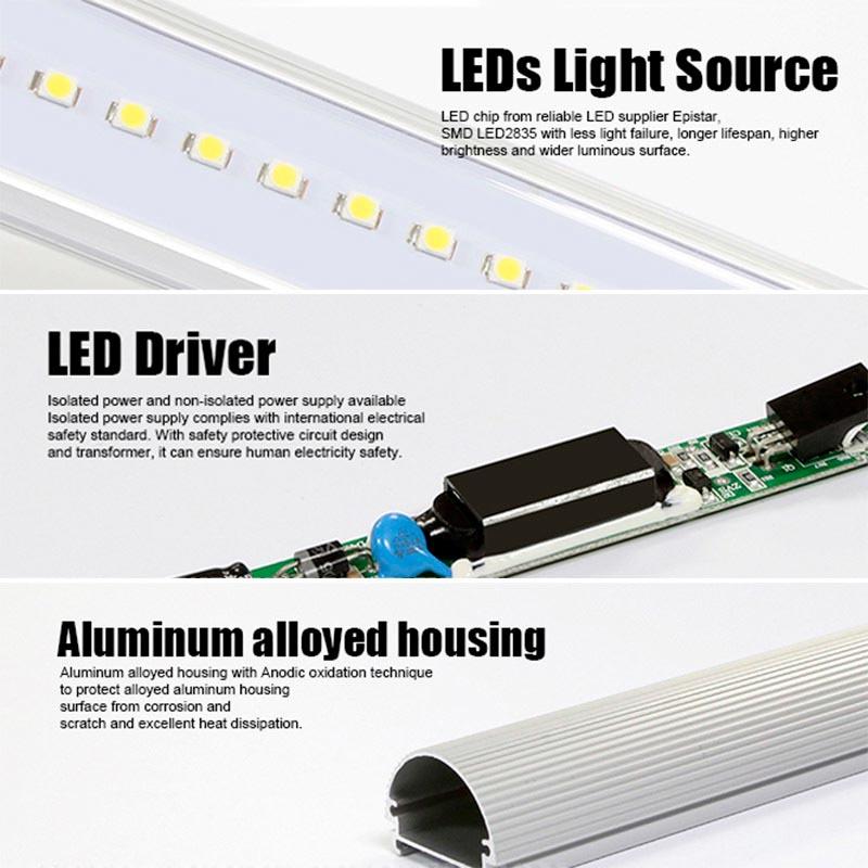 Tubo LED T8 SMD2835 Epistar - Aluminio - 35W -240cm