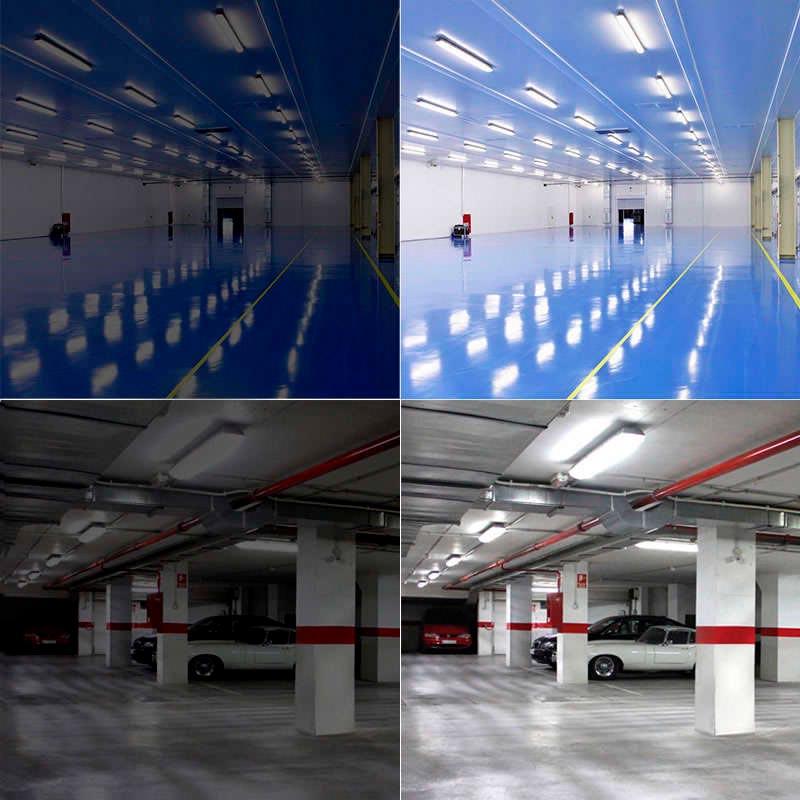 Tubo LED T8 con Sensor Radar de presencia, 18W, 120cm, 20-100%