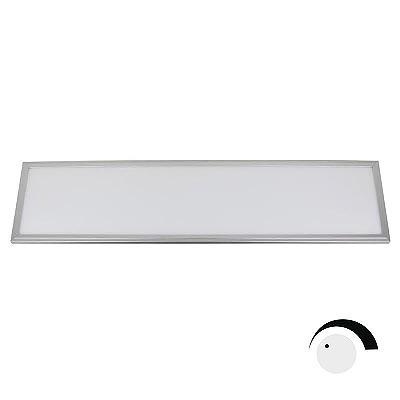 Panel 50W, ChipLed Samsung + TUV driver, 30x120cm, TRIAC regulable, silver, Blanco neutro, Regulable