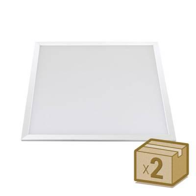 Pack 2 x Panel Led 40W Osram Chip Led, 60x60 cm, Blanco frío
