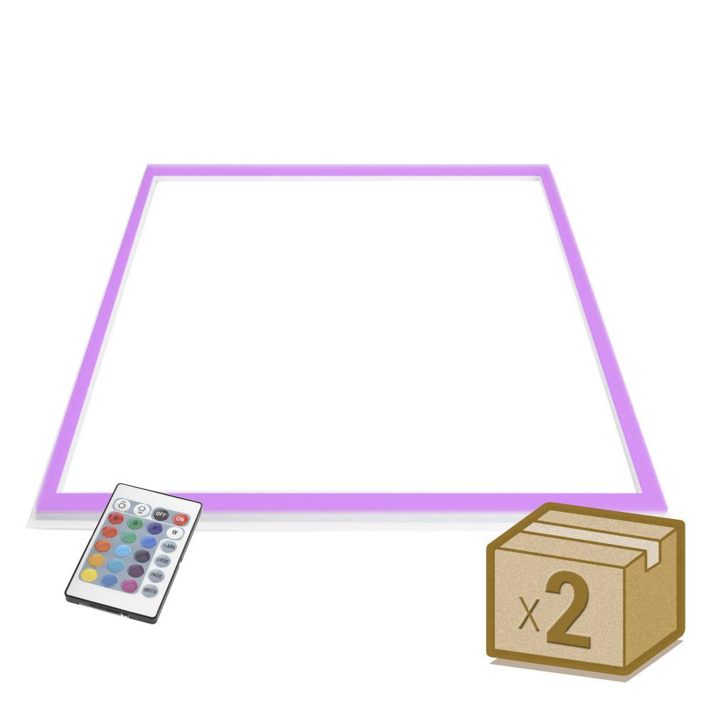 Pack 2 Paneles FRAMELUX, 24W, RGB, 60x60 cm