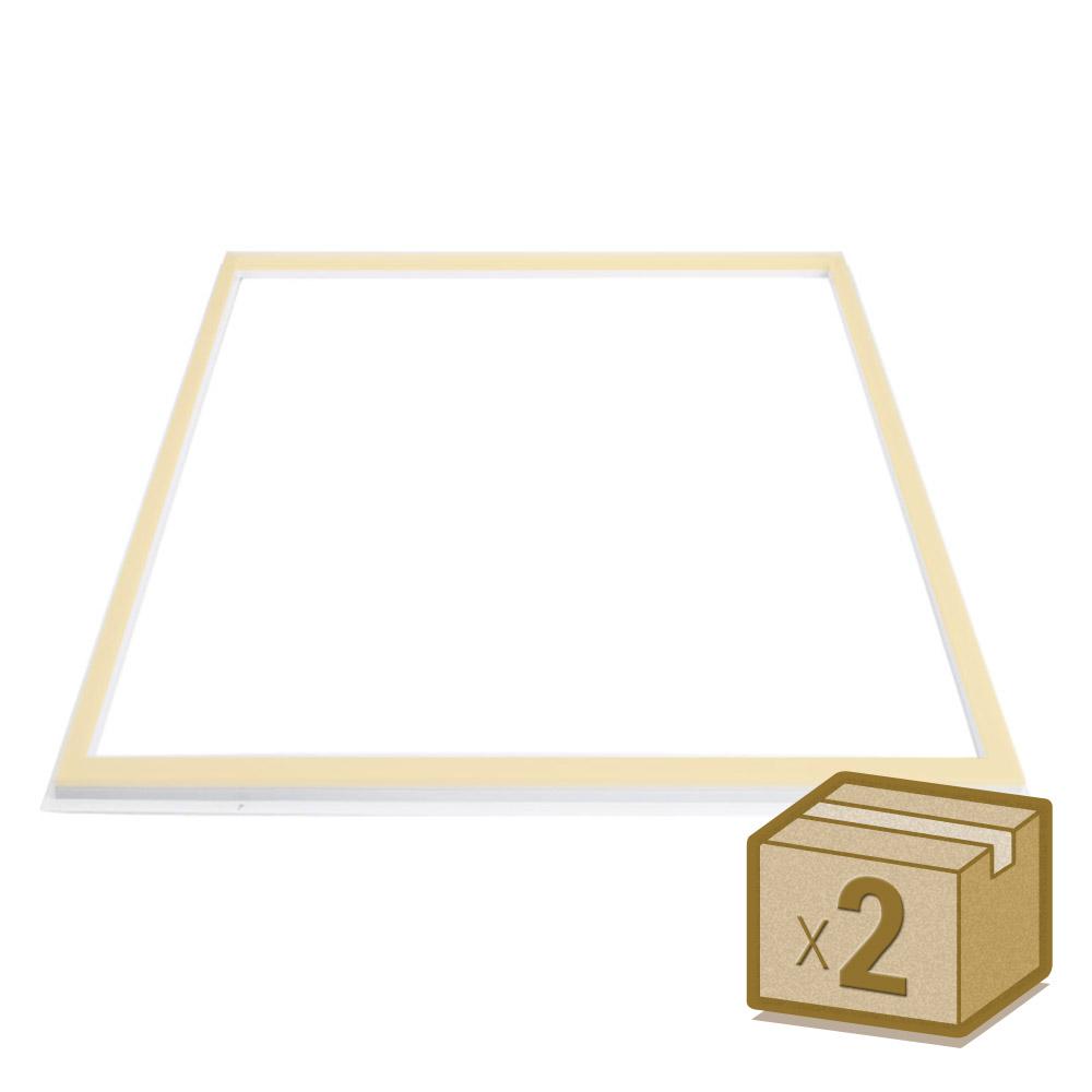Pack 2 Paneles FRAMELUX, 36W, CCT, 60x60 cm