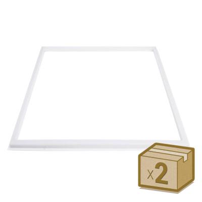 Pack 2 Paneles FRAMELUX 42W, LIFUD driver, 60x60 cm, Blanco frío