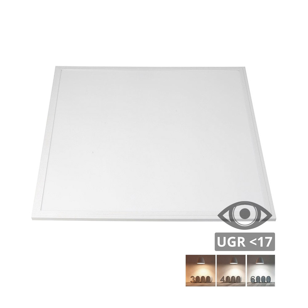 Panel Led Backlight UGR<17, 40W CCT, 60x60 cm, marco blanco