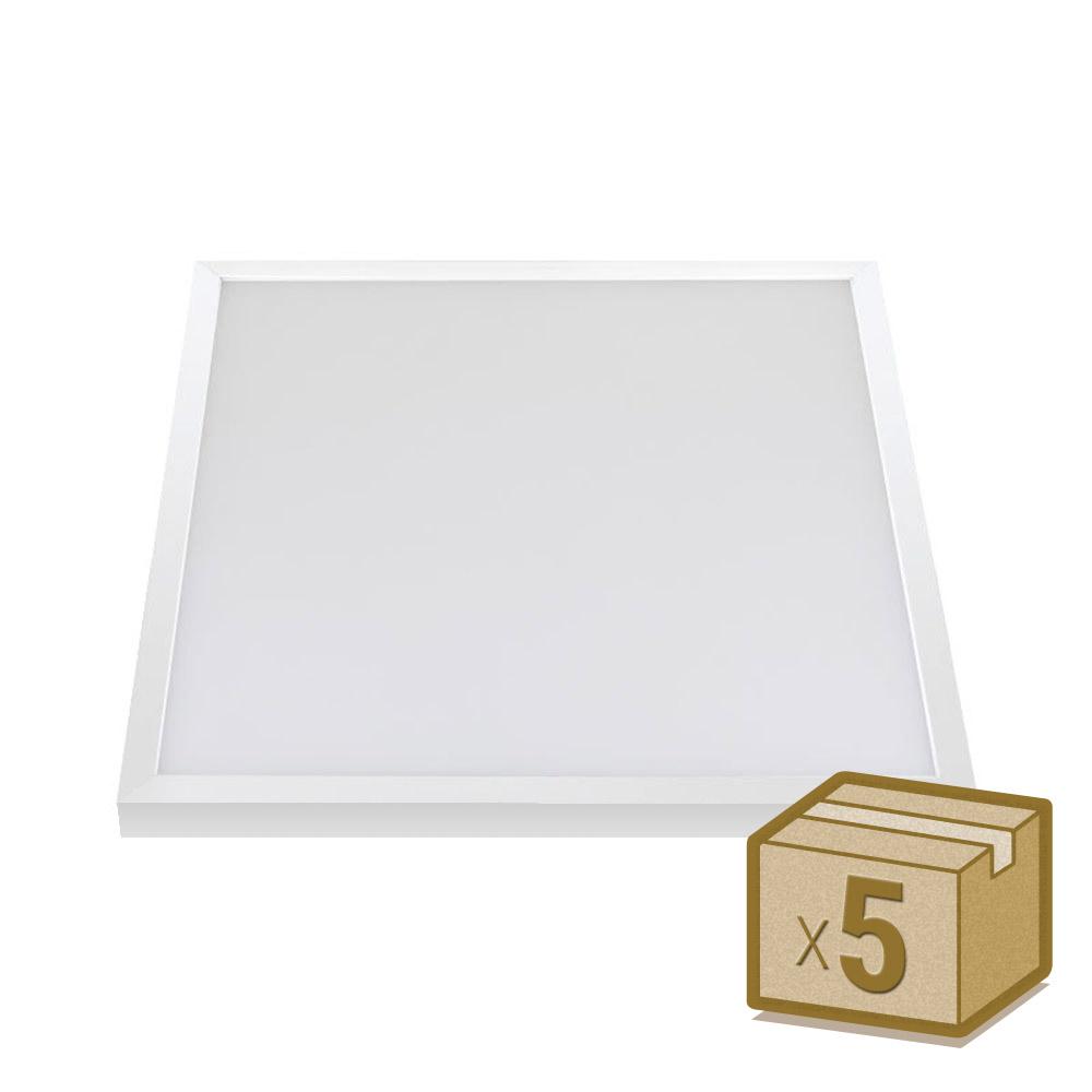 Pack 5 x Paineis  LED de superficie 40W Osram Chip Led, 60x60 cm
