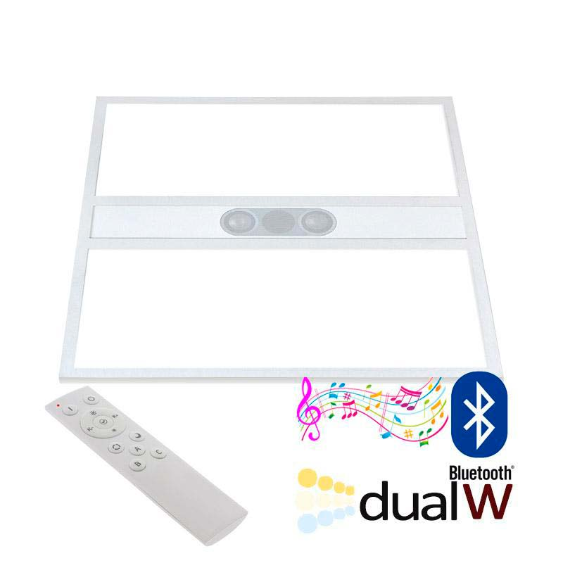 Panel LED 40W, Blanco DUAL + AUDIO BLUETOOTH, RF, 60x60cm