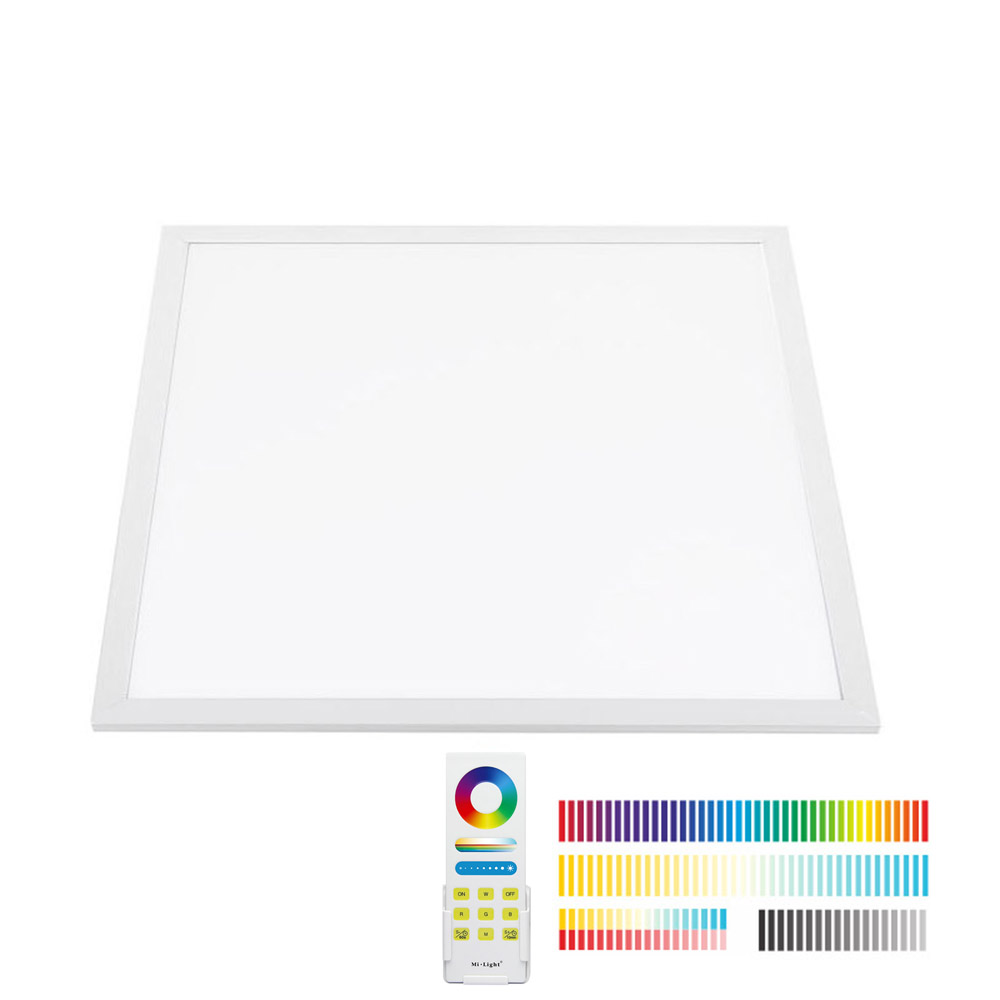 Panel LED 40W, FUT045A, RGB + CCT, RF, 60x60cm