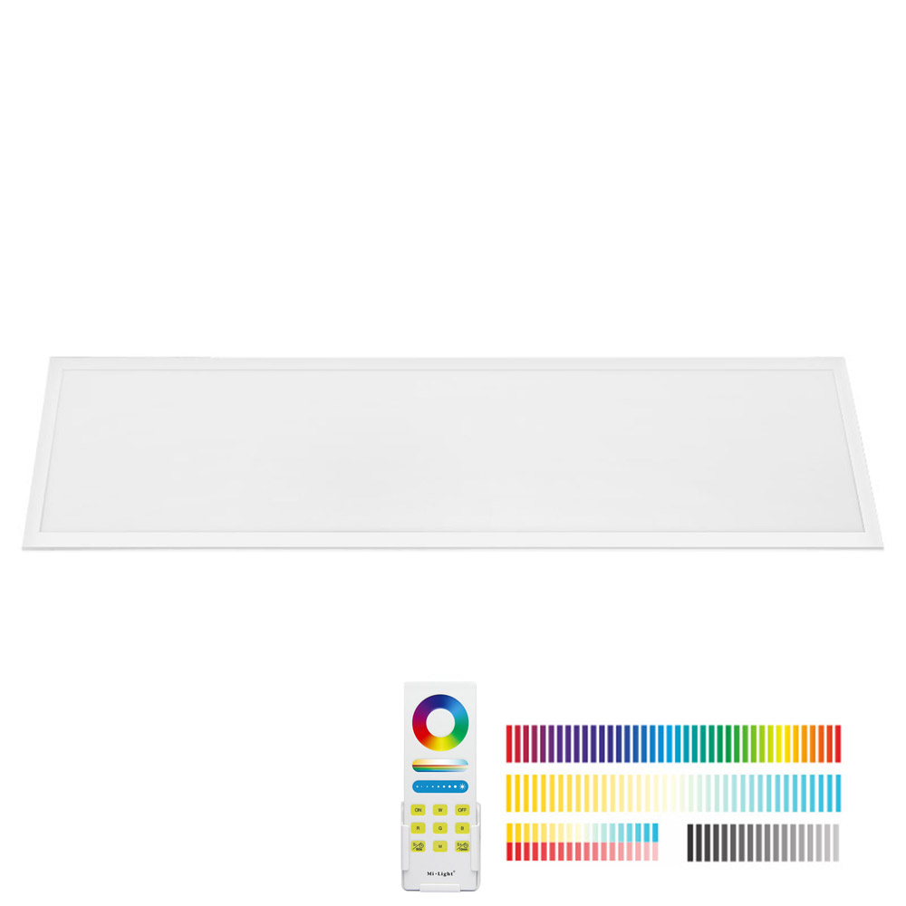 Panel LED 40W, FUT045A, RGB + CCT, RF, 30x120cm