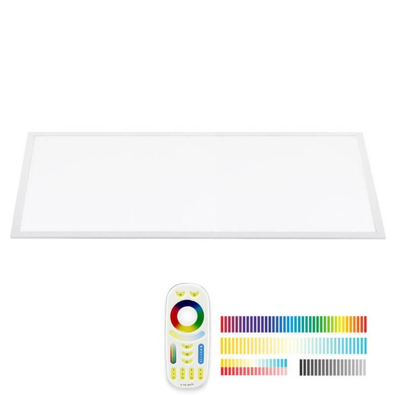Panel LED Backlit 40W, FUT045A, RGB + CCT, RF, 30x120cm