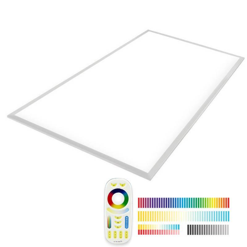 Painel LED Backlit 65W, FUT045A, RGB + CCT, RF, 60x120cm