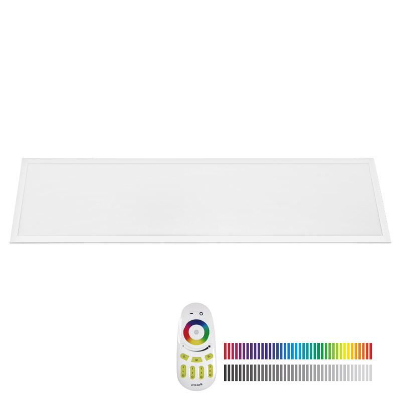 Painel LED 40W, RGB+CW, RF, 30x120cm