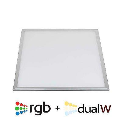 Panel LED 40W, RGB + CCT, RF, 60x60cm, RGB + Blanco dual, Regulable