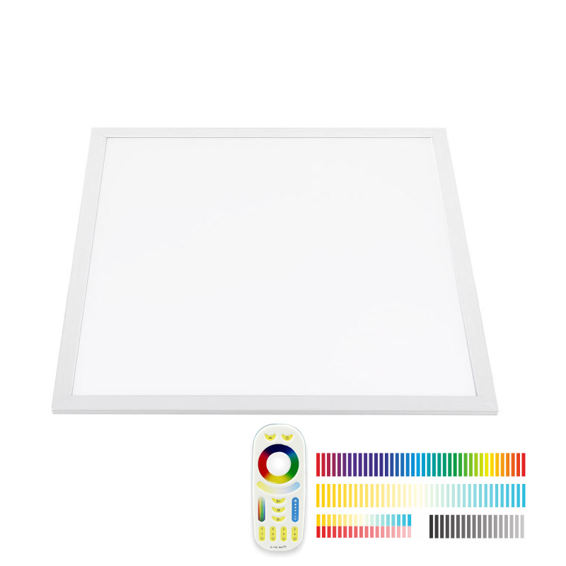 Panel LED 48W, RGB + Blanco DUAL, RF, 60x60cm