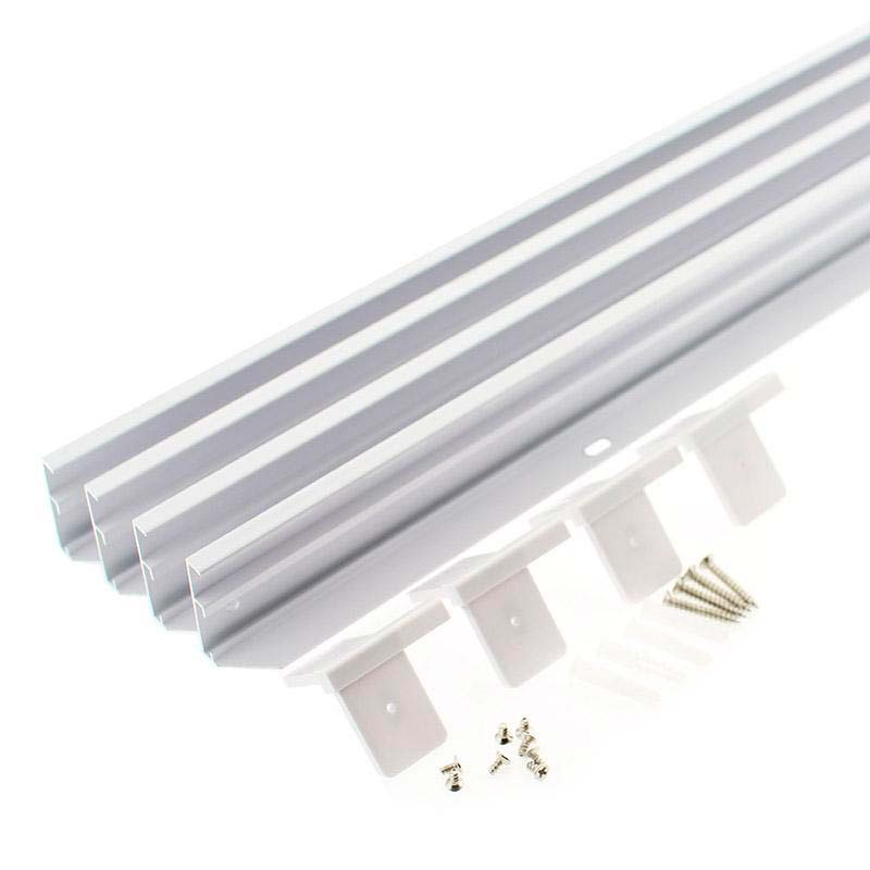 Kit marco Blanco para instalar Panel Led 30x120cm en superficie