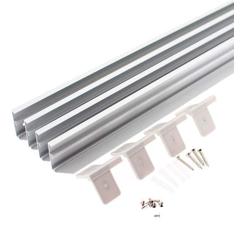 Kit marco Silver para instalar Panel Led 30x120cm en superficie