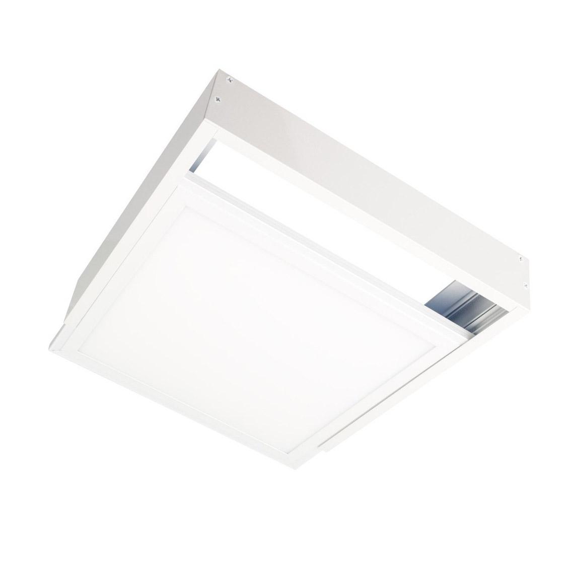 Kit moldura Branca para instalar Painel Led 60x60cm em superficie, Altura 68mm