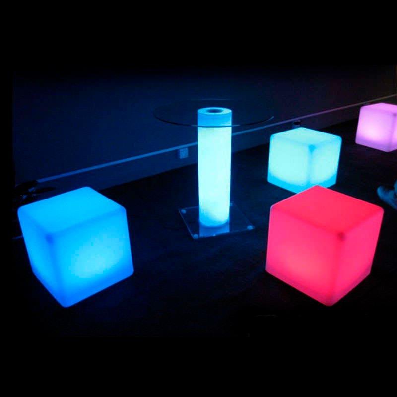 Cube lumineux led BIG KUB RGB Batterie rechargeable