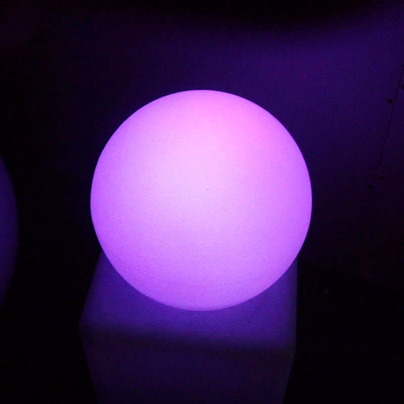 Boule lummineuse led 40cm RGB Batterie rechargeable