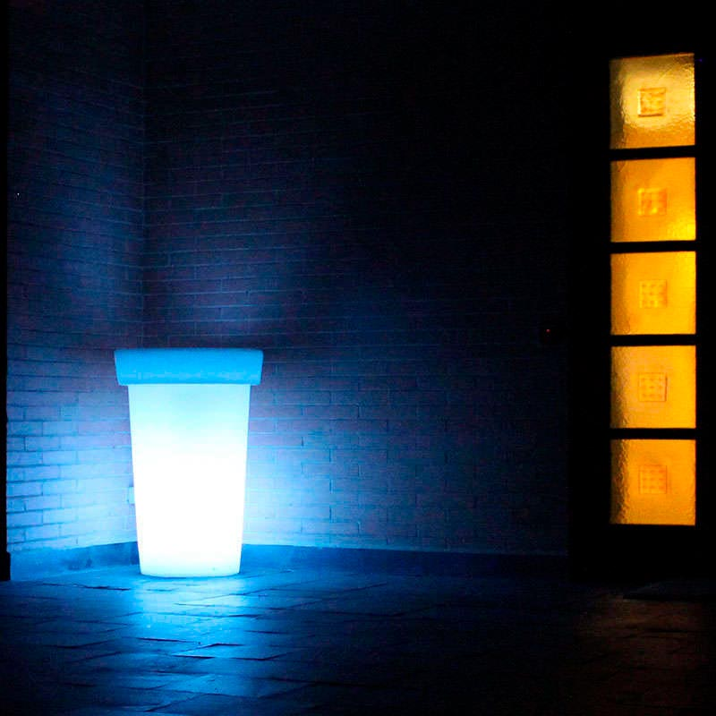 Led cube planter GIANT RGB rechargeable