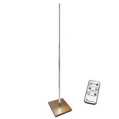lámpara de pie led LUMO LIGNO KVADRATA RF, 35W, Blanco cálido, Regulable