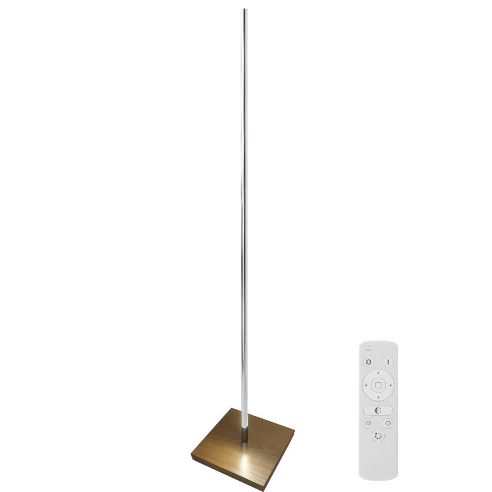 lámpara de pie led LUMO LIGNO KVADRATA RF, 35W