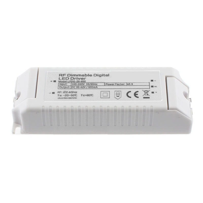 LED Driver DC30-42V/30W/600mA, regulable RF digital