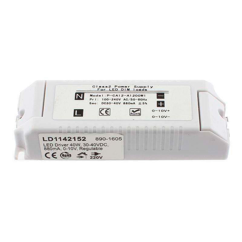 LED Driver TUV DC30-40V/40W/880mA, Regulable 0-10V