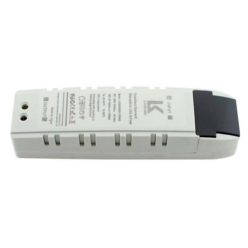 LED Driver TUV DC27-42V/55W/1300mA, TRIAC Regulavel
