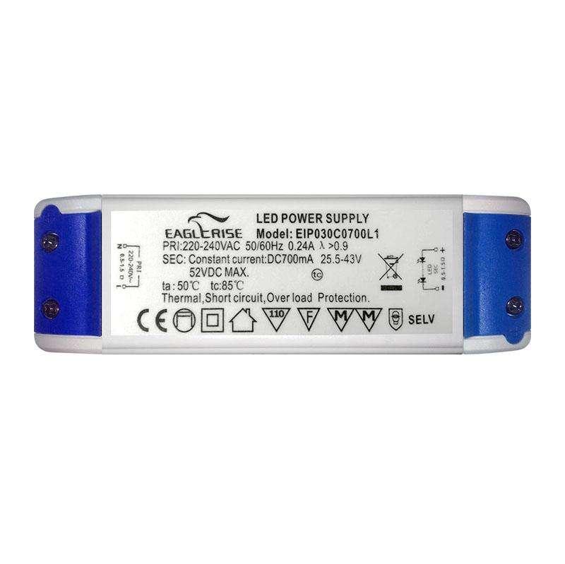 LED Driver DC25,5-43V Max52VDC/30W/700mA