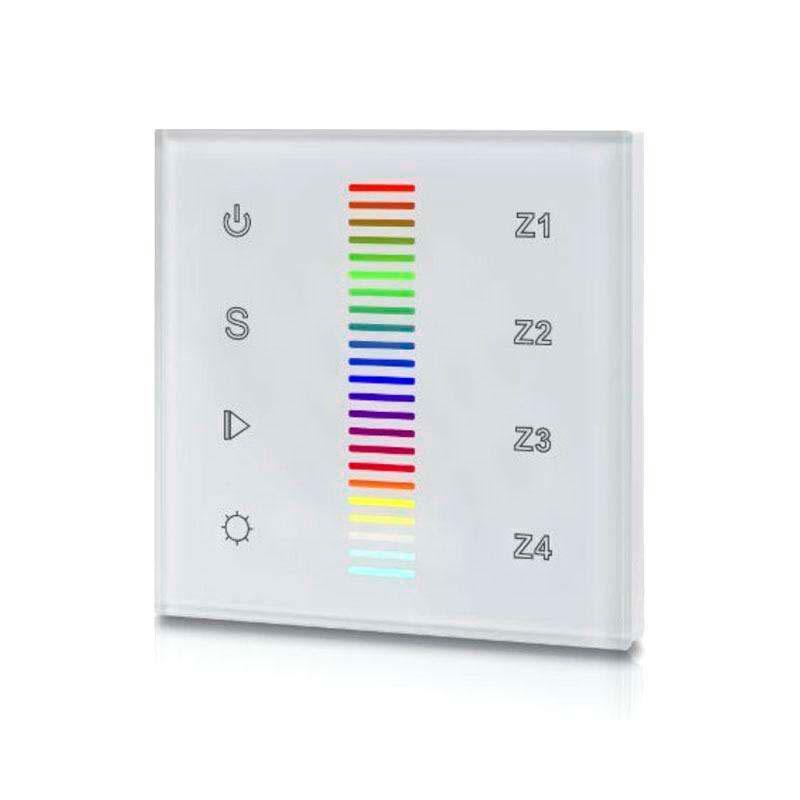 DALI panel táctil RGB, 4 zonas