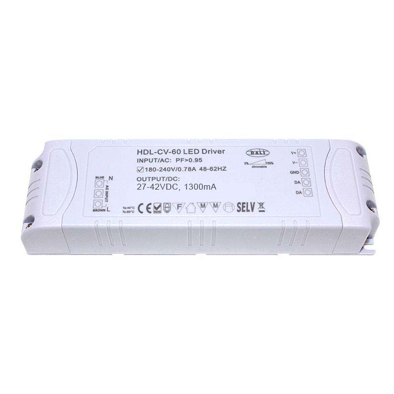 DALI Driver 55W, 27-42VDC, 1300mA, Regulable