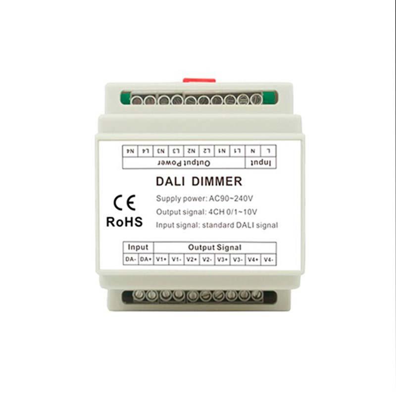 Converter DALI a 0-10V carril, 4Ch