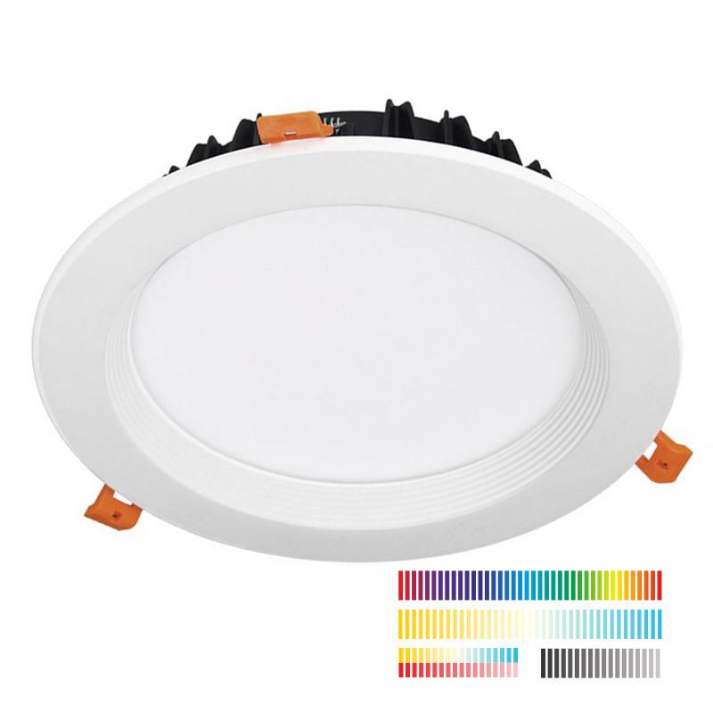 DALI Downlight 25W, RGB-CCT, RGB + Blanco dual, Regulable