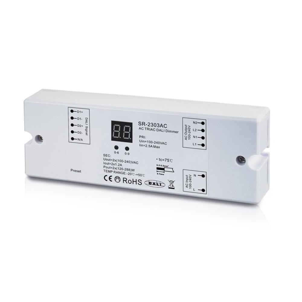 DALI Driver AC100-240V, 1,2A, 2CH,576W, Regulable