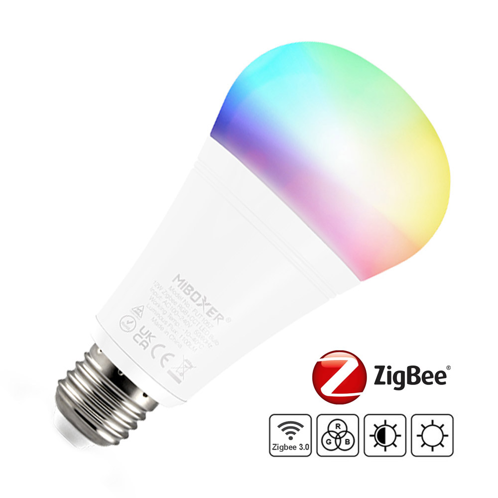 ZigBee bombilla E27, 12W, RGB+CCT