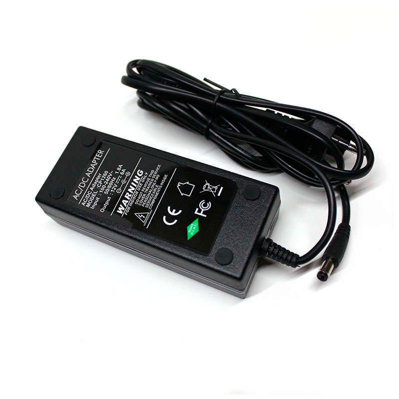 Expensive style 12V/72W/6A, EU Plug AC 8 power cord cable