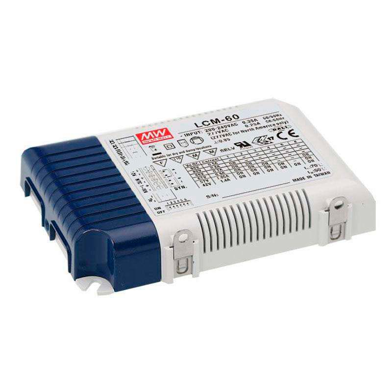 LED Driver MEAN WELL Ajustable LCM-60, 0-10V, PWM