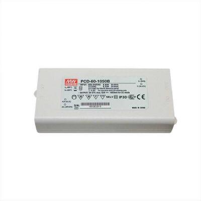 LED Driver MEAN WELL PCD-60-1050B, DC34-57V/50W/1050mA, TRIAC Regulable, , Regulable