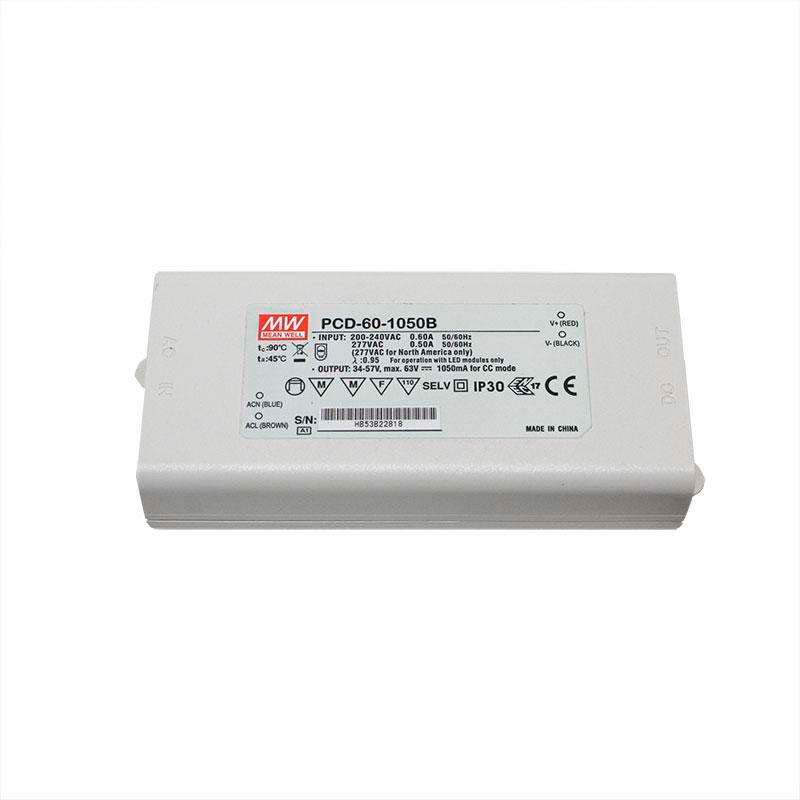 LED Driver MEAN WELL PCD-60-1050B, DC34-57V/50W/1050mA, TRIAC Regulable
