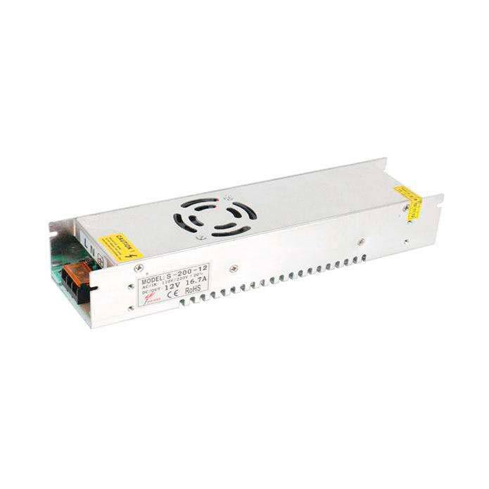 Fuente de alimentación conmutada DC12V/200W/16,7A