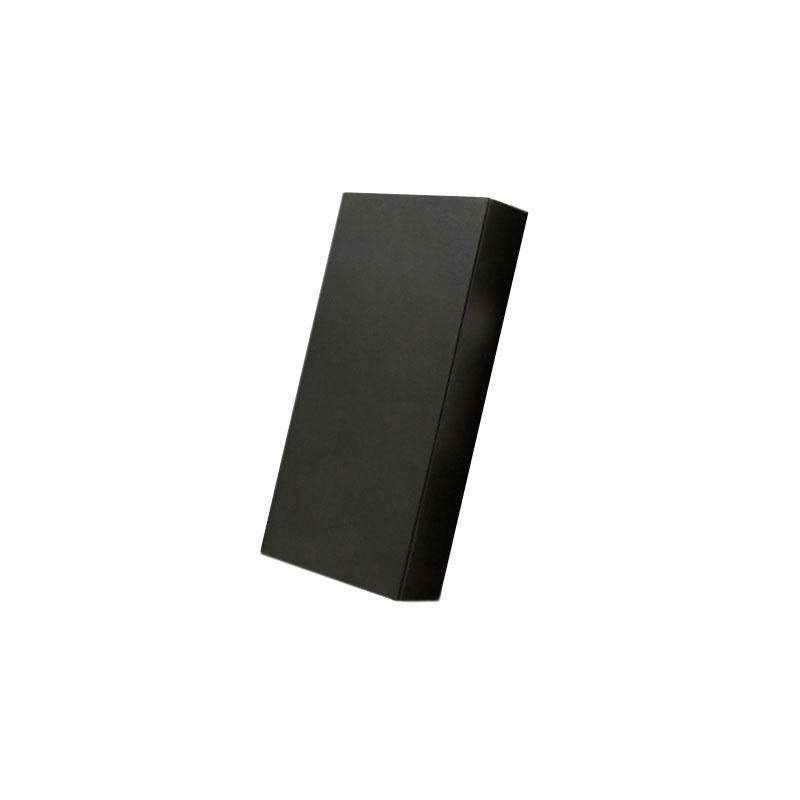 Tapa ciega plástico negra para mecanismos