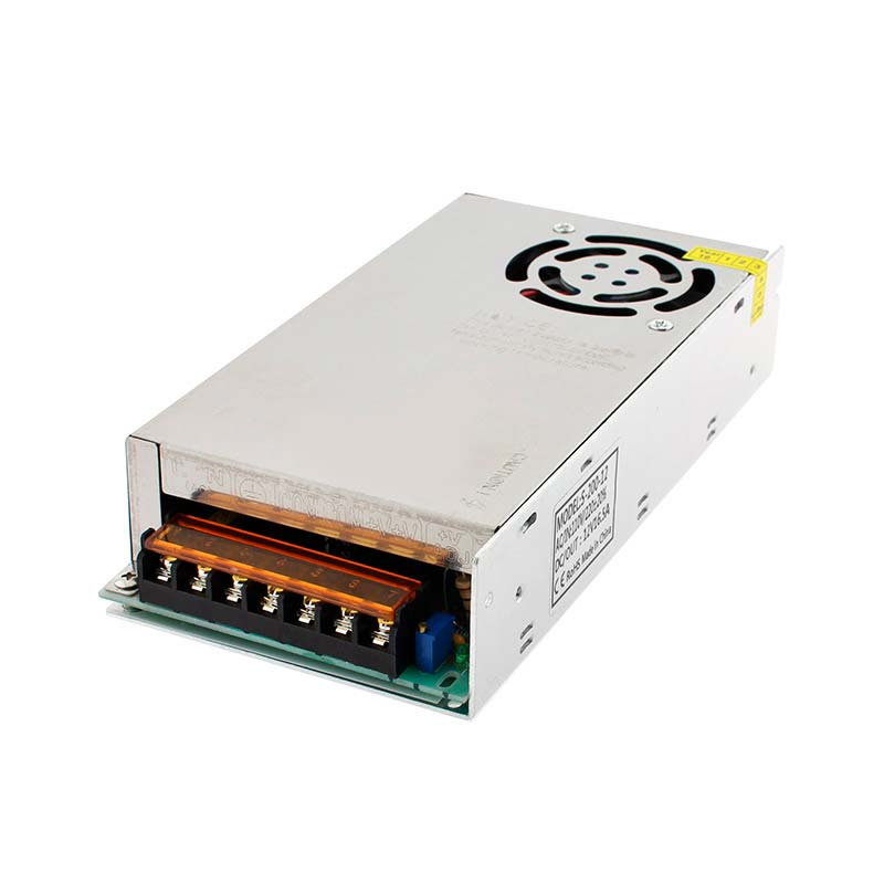 Fonte de alimentação DC12V/200W/16,5A, ventilador