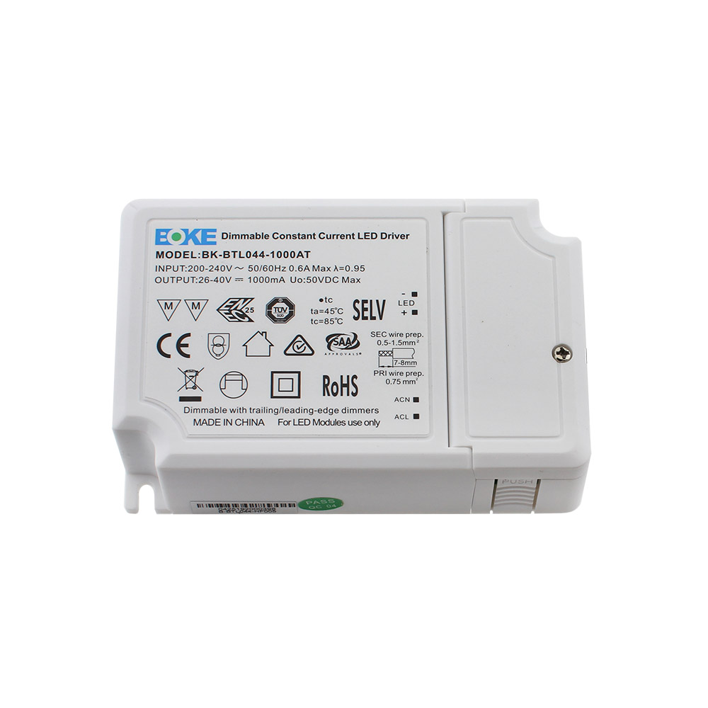 LED Driver BOKE DC26-40V/40W/1000mA, TRIAC Regulable